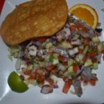Octous & Shrimp tostada