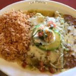 Shrimp enchilada plate